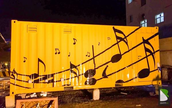 Container-music-note-Artist-Graff-Dubai