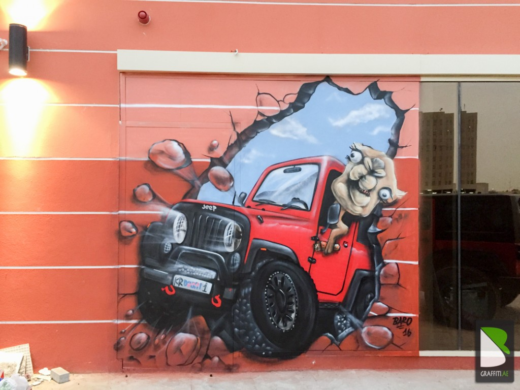Dubai-Graffiti-3D-Jeep-Kababrolls
