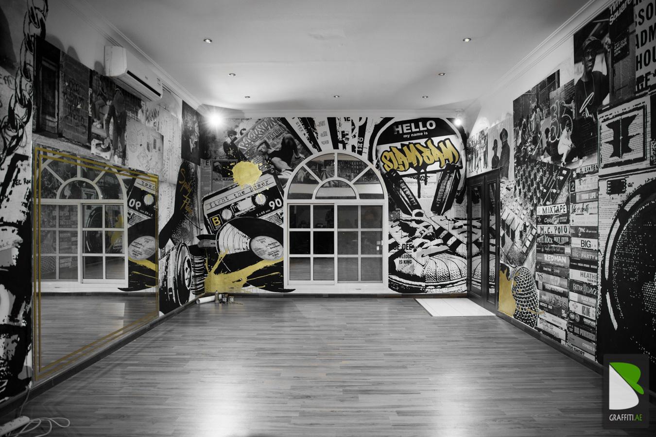 Graffiti wall uae - March 5 2017 Dubai Indoor Private Uaebaro