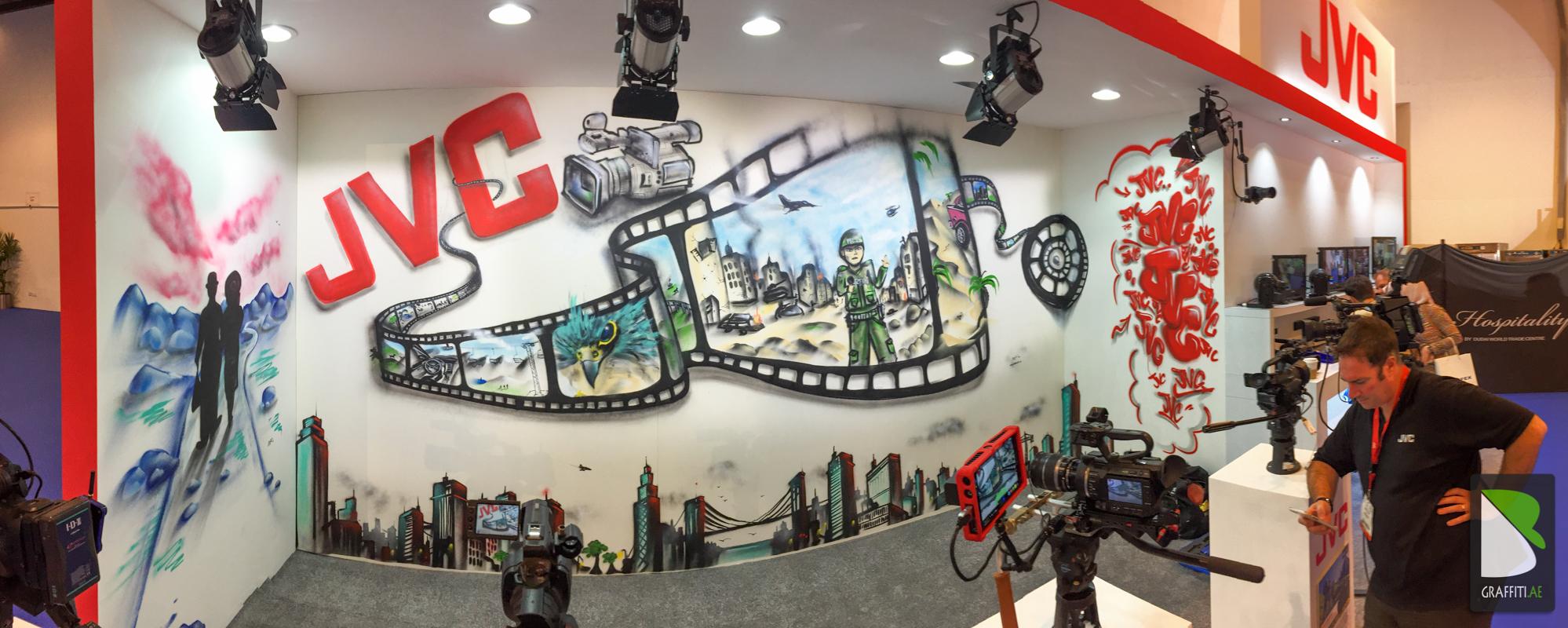 Graffiti wall uae - Jvc Live Painting Artist Graffiti Dubai Uae 5