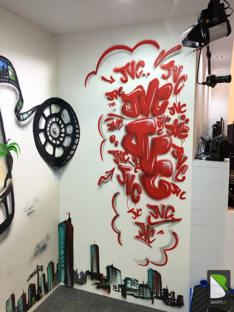 Graffiti wall uae - Two Days Painting With Water Based Spray Paint No Smell