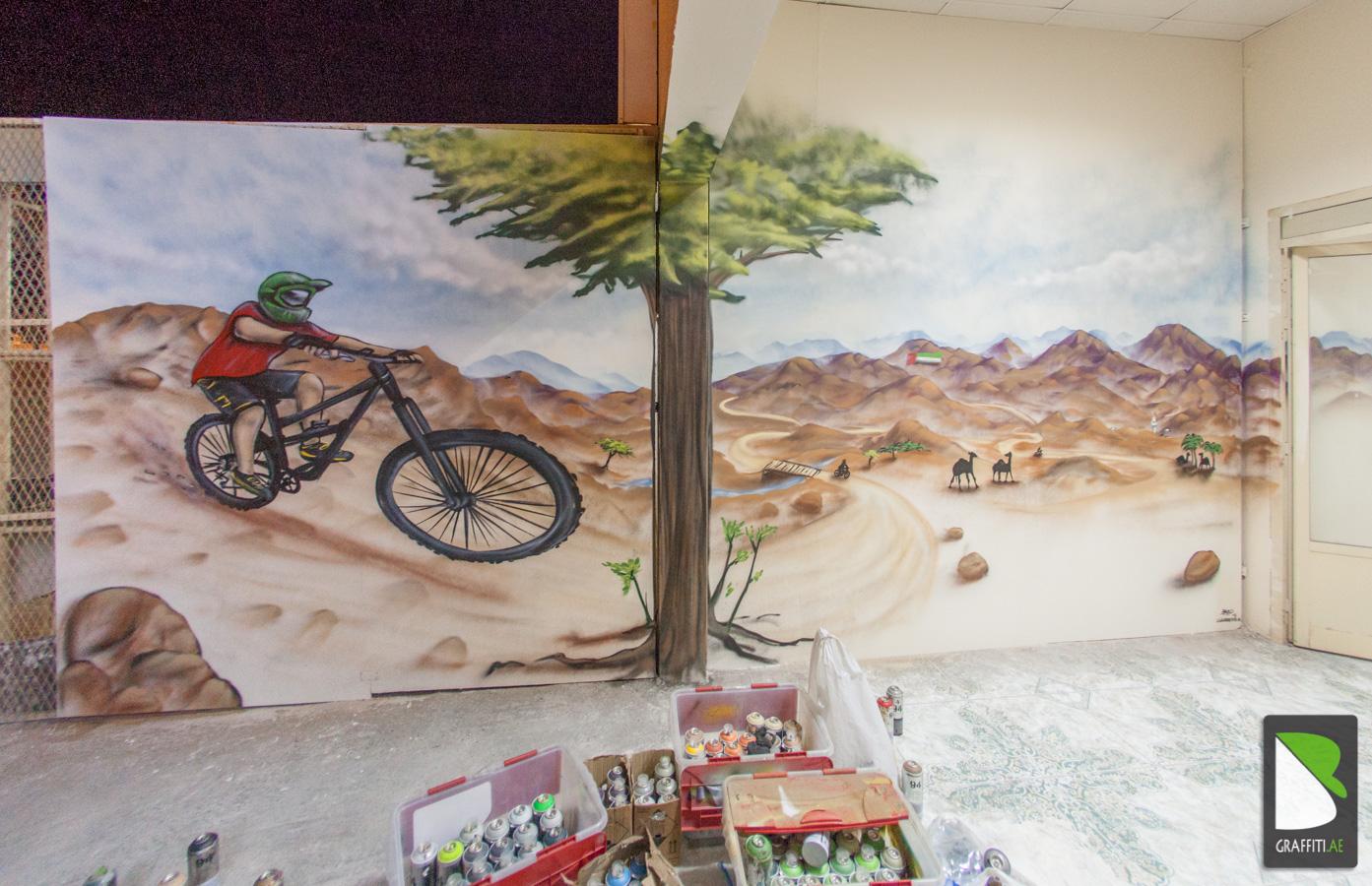 Graffiti wall uae - Uae Graffiti Artist Bike Shawka 7