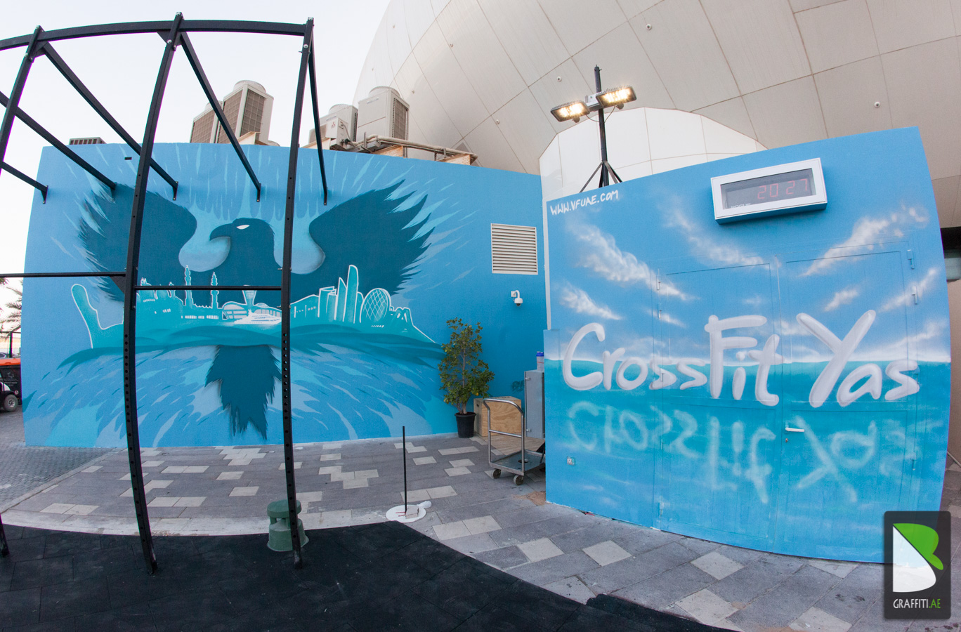 Graffiti wall uae - Crossfit Yas Marina Abu Dhabi